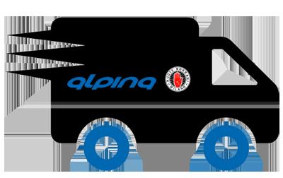 Livraison par transporteur jantes alpina borrani moto